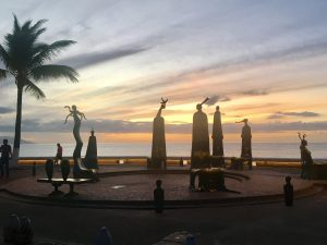 Puerto Vallarta sculptures on the Malecón