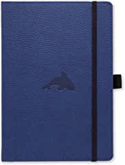 Blue leather journal